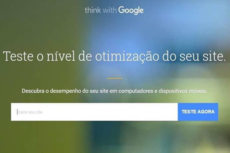 Teste de graça a velocidade do seu site com a ferramenta do Google